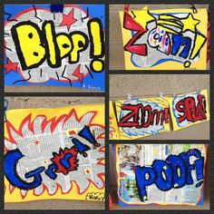 superhero art projects for kids | Found on cmae-adayinthelife.blogspot.com Signal words for the classroom