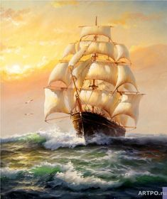 The All Inclusive Luxury Motor Yacht Charter Bateau Pirate, Old Sailing Ships, Baroque Painting, Ship Paintings, Nautical Art, Motor Yacht, Ship Art, Tall Ships, Lighthouse