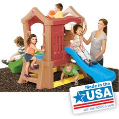 Step2 Play Up Double Slide Climber Playset, $259.99