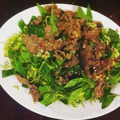 Nộm rau muống thịt bò #no96 #green #beef #salad #saigon #saigonstyle #hcmc #vietnam