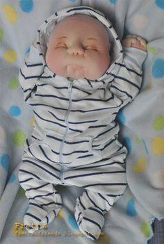 OOAK suave esculpidas recién nacido Baby Boy de Fretta textil
