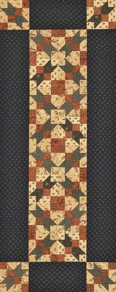 Capture the colors of autumn in an easy-to-piece table runner. Autumn Splendor Table Runner | AllPeopleQuilt.com