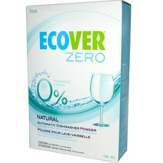 Ecover Automatic Dishwasher Powder ZERO - Fragrance-free, phosphate-free, safe for septic tanks, not tested on animals. Available @ Living & Eating Well (Sudbury, ON) #unscented #scentfree #fragrancefree