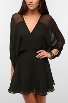 Smith Balloon-Sleeve Silk Chiffon Dress...love this with some nude flats for summer or a festival