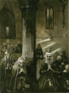 "santiago caruso | Santiago Caruso - Illustration for Ambrose Bierce's ""The Monk and ..."