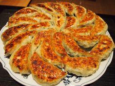Gotowane na parze japonskie pierozki.   Jiaozi - Gyoza