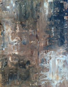 Abstract Art Painting Brown Cream Black Grey on Etsy