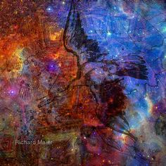 When The Stars Are Right - The North America Nebula in Cygnus by Richard Maier  #art #astronomy #artmatic #digitalart #abstract #Lovecraft #stars #constellations #cygnus #swan #bird #nebula #zodiac #astrology #cthulhu #GreatOldOnes #Mayan #apocalypse #2012