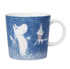 Moomin Winter mug 2018 – Light Snowfall - The Official Moomin Shop Moomin Mugs, Helsinki, Moomin Valley, Tove Jansson, Winter Light, Winter's Tale, Scandinavian Interior Design, Cute Mugs, Coffee Time