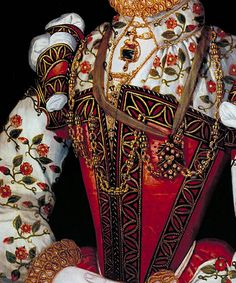 A Young Lady Aged 21, Possibly Helena Snakenborg, later Marchioness of Northampton (detail).  English School, 1569