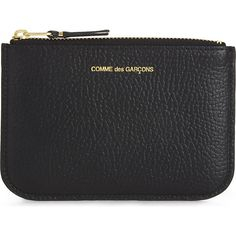 Comme Des Garcons Small grained leather pouch (136 AUD) ❤ liked on Polyvore featuring bags, handbags, clutches, comme des garcons pouch, pouch handbag, pouch purse, full grain leather handbags and blue clutches
