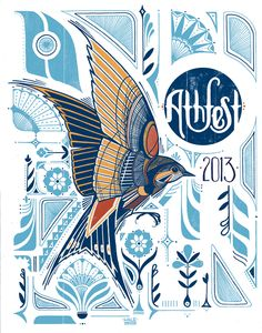 Illustration and Typography : Athfest   Love Hawk Studio