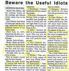 Rules for radicals Saul Alinsky = Democrats Mentor