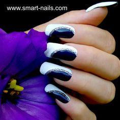 bianco blu notte argento glitter