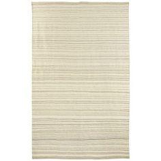 $350 8x10 stripe Dhurrie Rugs - Gray
