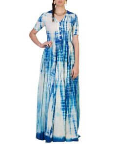 Blue Tye And Dye Maxi I Shop at :http://www.thesecretlabel.com/ans-by-astha-n-sidharth