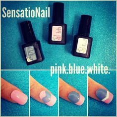 #SensatioNail #gel #manicure featuring pink chiffon, cool breeze and white lily. A simply perfect and chic pastel palette for spring.