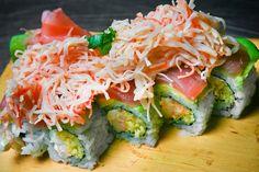 Sushi at Harbor Docks Coast Restaurant, Fresh Rolls, Sushi, Cabbage, Restaurants, Dining, Vegetables, Ethnic Recipes, Restaurant