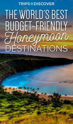 15 Budget Friendly Honeymoon Destinations That Won't Break Your Post-Wedding Bank Account - honey moon ideas Honeymoon Destinations On A Budget, Honeymoon Getaways, Honeymoon Tips, Honeymoon Places, Best Honeymoon Locations, Travel Destinations, Honeymoon Planning, Spain Honeymoon, California Honeymoon