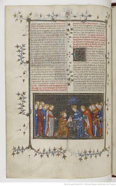Grandes Chroniques de France Fol 357v, 1375-1380, Henri du Trévou & Raoulet d'Orléans