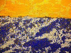 "Lalo Relinque - ""Nevada sobre campos de girasoles"" - Colección Texturas - 2007 - T-Mixta.Lienzo - 27x35 cm"