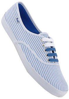 KEDS KEDS Womens Simple Champion STR LT blue wash/white