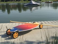 The Colorado Surfboard!   Land paddling by AKZ Paddle Co
