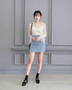 Korean Fashion Trends you can Steal – Designer Fashion Tips Korean Fashion Trends, Asian Fashion, Girl Fashion, Fashion Looks, Fashion Outfits, Womens Fashion, Fashion Design, Ulzzang Fashion, Harajuku Fashion