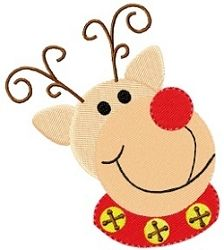Ralphie The Reindeer - 4x4 | Christmas | Machine Embroidery Designs | SWAKembroidery.com Tyme 2 Stitch