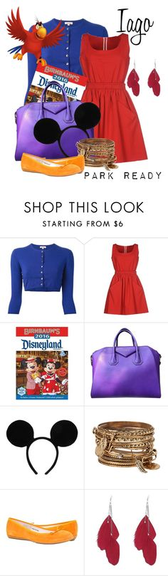 """""""Iago: Park Ready"""" by laniocracy ❤ liked on Polyvore featuring P.A.R.O.S.H., Carven, Givenchy, Disney, ALDO and disneyland"""