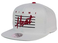 87e37d179878e Miami Heat Mitchell and Ness NBA Cursive Script Cotton Snapback Cap Hats  Cursive Script