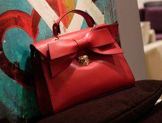 Red Ribbon Handbag- restocked! $55.00