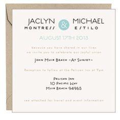 Wedding Invitations - Text Wedding Invitations   Paper Source