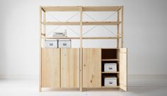 ikea - IVAR system IVAR here with 2 elements with shelves and cabinets made of pine
