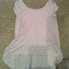 American Eagle Shirt American eagle shirt, low cut in the back with a sheer insert, high/low top American Eagle Outfitters Tops Blouses