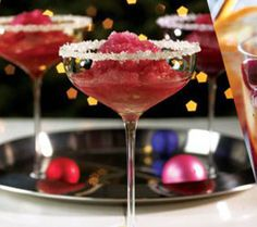 Pomegranate Margarita cocktail.Pomegranate puree is a lovely,deep shade of red.Try to prepare your own pomegranate puree.