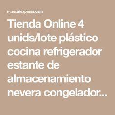Tienda Online 4 unids lote plástico cocina refrigerador estante de almacenamiento  nevera congelador estante de 90edca0013ea