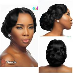 Bridal Hairstyles For Long Hair African American Wedding Updo 24 Ideas - All For Wedding Hair Style Black Hair Updo Hairstyles, Lil Girl Hairstyles, Black Wedding Hairstyles, Beautiful Hairstyles, Elegant Hairstyles, Black Bridesmaids Hairstyles, Wedding Hairsyles, Hairstyles 2016, Formal Hairstyles