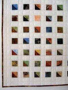 Modern Art Quilts | Art Quilt Batik Prints Modern Wall Hanging by SallyManke