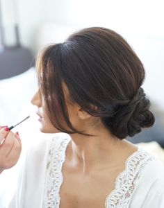 side swept bangs wedding updos hairstyles for your big day