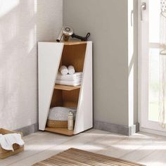 & & & & bEcky - stackable Design-corner shelf for the bathroom Creative Bookshelves, Shelves, Interior, Diy Furniture, Luxury Homes Interior, Diy Interior, Home Decor, Corner Shelves, Wall Tv Unit Design