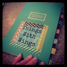 Things With Wings: blank journal with washi tape tabbies!