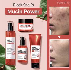 Snail Truecica Miracle Repair Set that consisting of four products designed specifically to repair damaged skin and lighten the scars and blemishes while moisturizing your skin. Skin Care Routine Steps, Acne Marks, Cleanser And Toner, Uneven Skin Tone, Healthy Skin Care, Skin Brightening, Skin Problems, Skin Care Regimen, Dark Spots