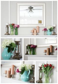 I Love You More Than Carrots: Amazing Mantel Makeover :: Paint It & Trim It