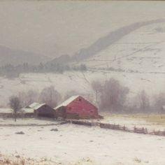 lovell birge harrison paintings | Harrison, Birge. Farmstead in Winter. ca. 1900