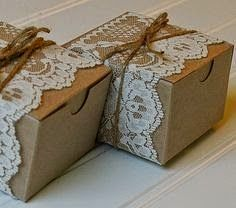 lace and twine kraft paper boxes kraft gift box rustic wedding wedding favors party favors - Rustic Wedding Gifts Wrapping Simple Bridal Shower, Bridal Shower Rustic, Bridal Shower Favors, Rustic Wedding Gifts, Vintage Wedding Favors, Vintage Bridal, Vintage Lace, Wedding Gift Wrapping, Wedding Gift Boxes