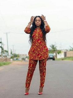 Items similar to African Clothing/ Ankara Dress/ African Print/ Ankara Print on Etsy African Clothing/ Ankara Blouse and Pant/ African Print/ African Fashion Designers, African Fashion Ankara, African Inspired Fashion, Latest African Fashion Dresses, African Print Fashion, Africa Fashion, African Style, African Dresses For Women, African Print Dresses