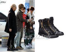 Tao Croc Embossed Hi Top Sneakers in Black | Shop: USD($) | Image Source: OUTBACK
