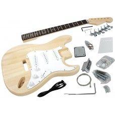 Solo ST Style DIY Guitar Kit, Basswood Body, Hard Maple Neck