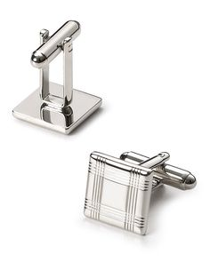 50.00$  Watch here - http://vizak.justgood.pw/vig/item.php?t=0htoxg11421 - The Men's Store at Bloomingdale's Silver-Tone Check Square Cufflinks - 100% Exclusive